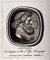 Aesculapius. Etching by T. Worlidge. Wellcome V0035834.jpg