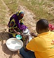 African People at Work-Fulani Woman Selling Fresh Milk 2.jpg