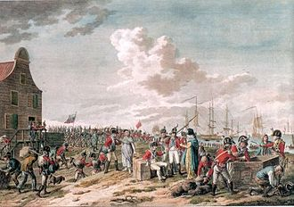 Anglo-Russian invasion of Holland - Anglo-Russian troops departing Den Helder