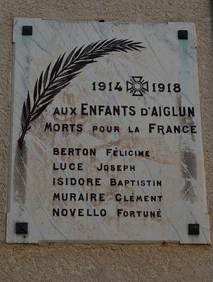 Aiglun, Alpes-Maritimes - Aiglun War Memorial
