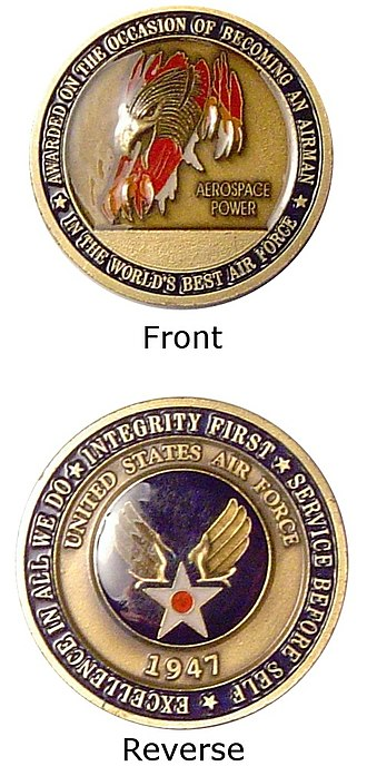 Challenge coin - Original USAF Airman's coin.