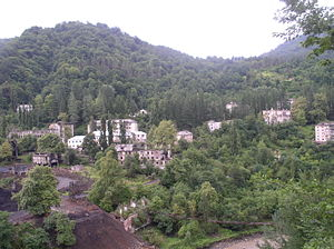 Tkvarcheli - View of the Akarmara ghost town near Tkvarcheli
