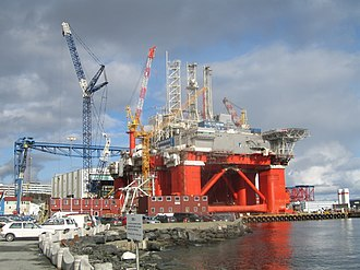 Aker Drilling - Aker Spitsbergen semi-sumersible at Aker Stord shipyard
