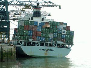 Al-Mutanabbi IMO 9152272 , at Port of Antwerp, Belgium 13-Sep-2005.jpg