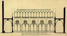 Ala meridional del claustre de Santa Caterina