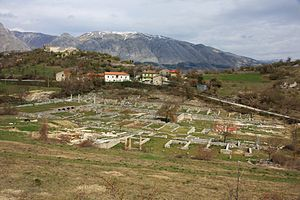 Alba Fucens - View of the forum of Alba Fucens