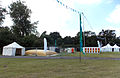 Aldenham Country Park event field with tents, toilet units, water bowser, and Heras fencing.jpg
