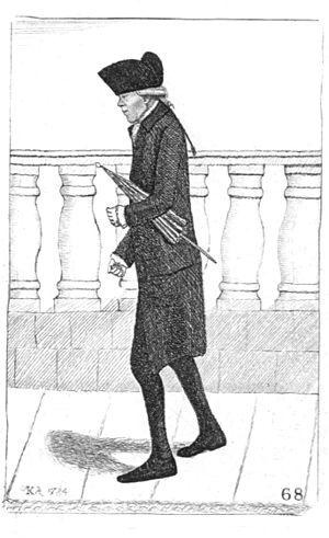 Alexander Wood (surgeon) - Image: Alexander (Lang Sandy) Wood with umbrella caricatured by John Kay