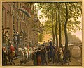 Alexander I of Russia and William I of the Netherlands visit the Brentano collection in Amsterdam in 1814.jpg