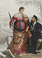 Alfonso I d'Este and his lover Laura Eustochia as Saint Justine.jpg