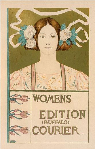 Buffalo Courier-Express - Advertising poster for a Women's Edition, by Alice Russell Glenny