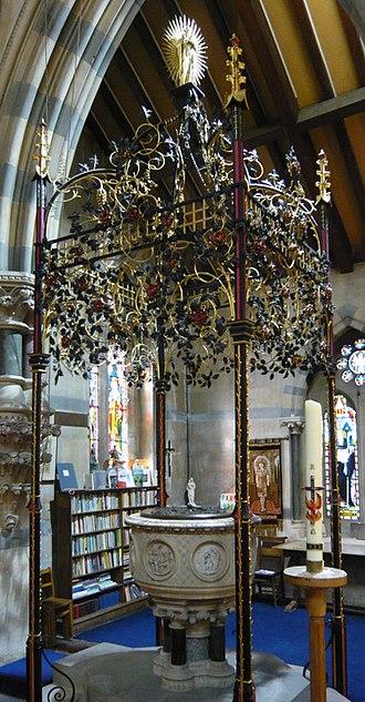 All Saints' Church, Cheltenham - Image: All Saints' Church Font