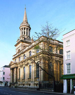 Lincoln College, Oxford - All Saints Church, now Lincoln College's library, on the High Street