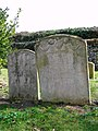 All Saints church in Snetterton - carved headstones - geograph.org.uk - 1762881.jpg