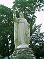All Saints church in Włocławek - Statue of Christ blessing - 03.jpg