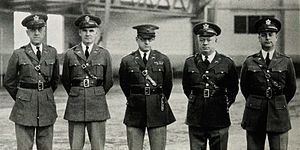 Alonzo Patrick Fox - Fox (second from left) as an R.O.T.C. instructor at the University of Maine in the mid-1930s