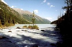 Altai, Lake Kutsherla in Altay Mountains