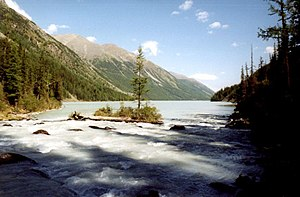 Siberia - Altai, Lake Kutsherla in the Altai Mountains