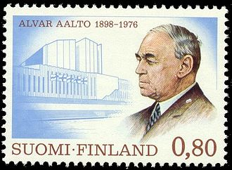 Alvar Aalto - Alvar Aalto portrayed on a stamp published in 1976