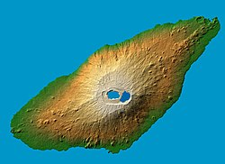 Aoba (Ambae) Island, image acquired by the Space Shuttle Endeavour