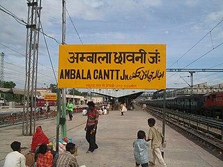 Ambala City in Haryana, India