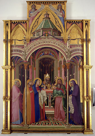 Presentation of Jesus at the Temple - Presentation at the Temple by Ambrogio Lorenzetti, 1342 (Galleria degli Uffizi, Florence).