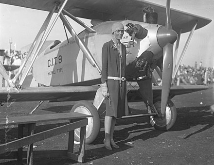 EARHART, before taking to the SKY