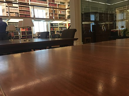 Reading room for researchers at Library Hall (2019) American Philosophical Society Library Hall reading room.jpg