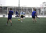 American and Bosnian soldiers play friendly soccer match in Kandahar; follow up with US vs. Bosnia-Herzegovina game 130814-A-IX573-120.jpg