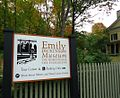 Amherst Massachusetts sign outside Emily Dickinson house museum.JPG