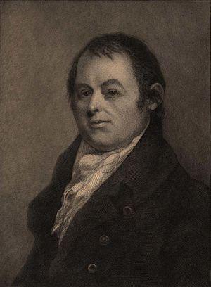 Amos Doolittle - Lithograph of Doolittle, following Ralph Earl's portrait