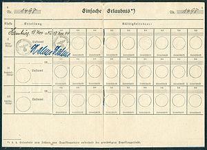 Amtsdokument Paul Fischer 1942-11-18 Hauptmann Deutsches Reich Luftfahrerschein für Segelflugzeugführer Seite 06 und 07 Ausweis Nr. 1498 Luftamt Hamburg Einfache Erlaubnis.jpg