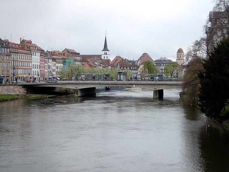 Vue de l'Ill à Strasbourg.