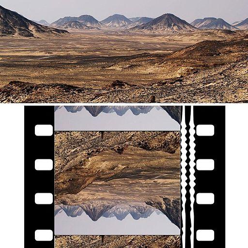 Anamorphose cinemascope desert sens defilement