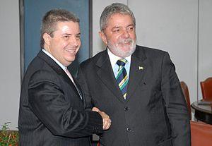 Antônio Anastasia - Anastasia com o Presidente do Brasil, Lula da Silva, em 2010.