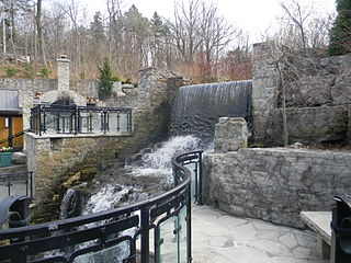 Mill Falls waterfall in Ontario, Canada
