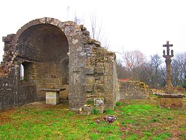 The ruins of the priory in Sancy