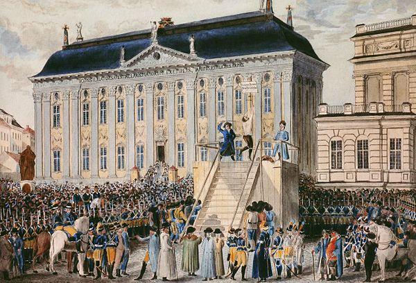 Målning av Anckarströms bestraffning