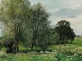 Anders Andersen-Lundby - Sommereng med børn, der plukker blomster.png