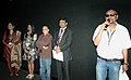 Anjar Dutt addressing at the special presentation of his film, at the 42nd International Film Festival of India (IFFI-2011), in Panaji, Goa on November 29, 2011. The Deputy Director of IFFI, Ms. Tanu Rai is also seen.jpg