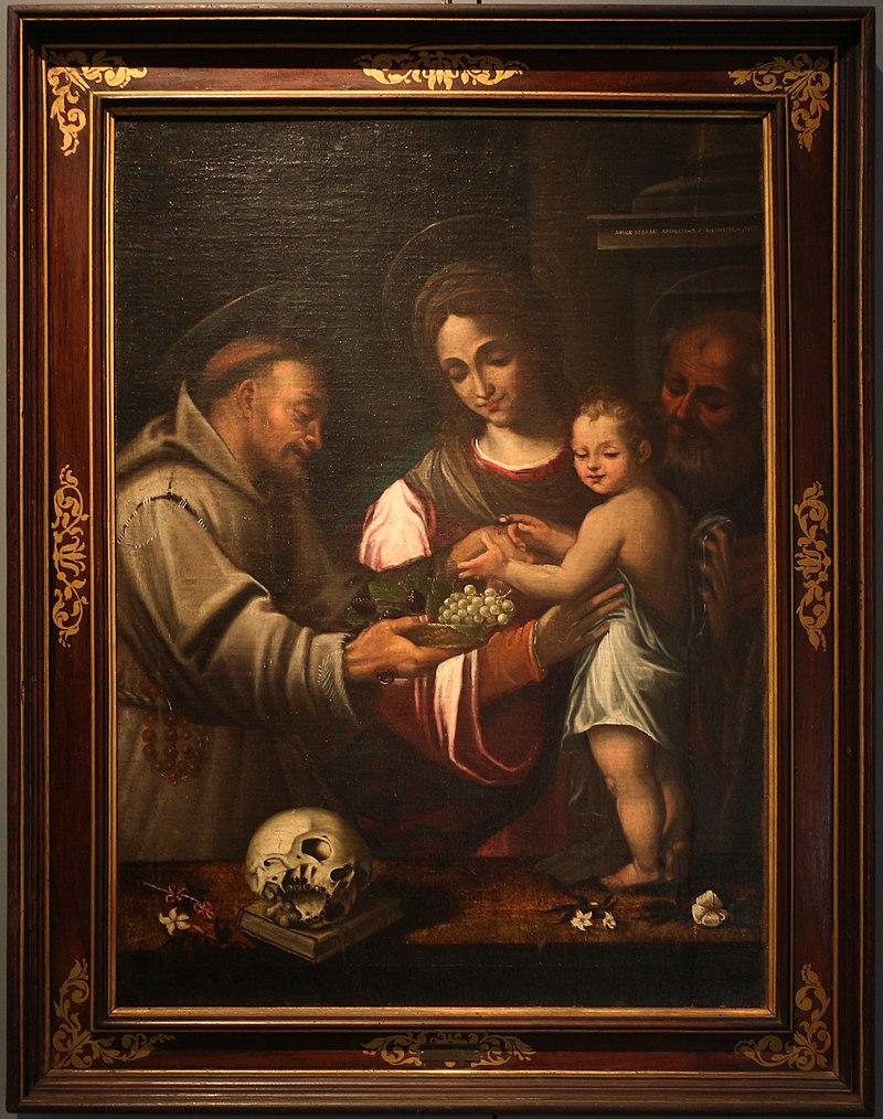 Sacra Família com São Francisco, de Anna Maria Anguissola