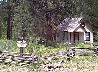 National Register of Historic Places listings in Baker County, Oregon - Image: Antlers Guard Station Wallowa Whitman NF