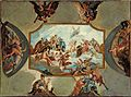 Antonio Bellucci - Reverence to Elector Johann Wilhelm von der Pfalz – Design for a Ceiling Painting for Bensberg Castl... - Google Art Project.jpg