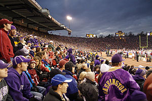 Husky Stadium - Capacity crowd in the south stands at the 100th Apple Cup in 2007