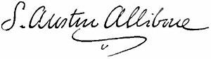 Samuel Austin Allibone - Image: Appletons' Allibone Samuel Austin signature