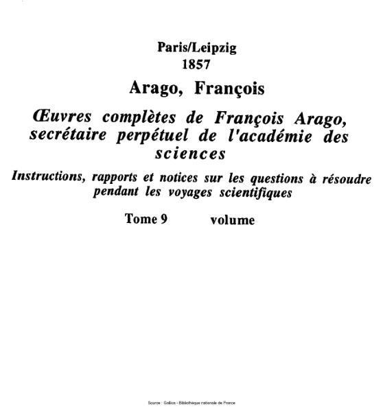 File:Arago - Œuvres complètes de François Arago, secrétaire perpétuel de l'académie des sciences, tome 9.djvu