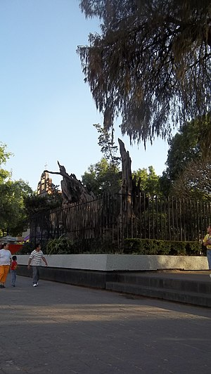 "Tacuba, Mexico City - Remants of the ""Tree of the Sad Night"" in the Popotla neighborhood, historically part of Tacuba."