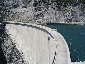Oymapinar Dam - Image: Arch dam Oymapinar (Manavgat River, Turkey)
