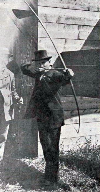 Unknown competitor in the archery events Archery competitor at the 1900 Olympic Games in Paris.jpg