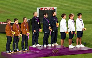 Archery men's team - London 2012 - medalists.jpg